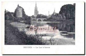 Old Postcard Bruges Lake d & # 39Amour