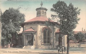 G5/ Hamilton Ohio Postcard Kraemer Art c1910 Lane Free Library