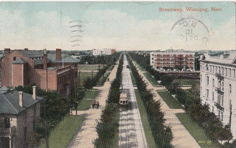 B77522 brodway winnipeg  tramway canada scan front/back image