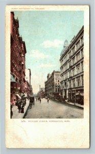 Minneapolis MN-Minnesota, Nicollet Avenue, Vintage Postcard