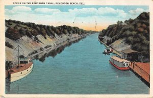Rehoboth Beach Delaware Rehoboth Canal Scenic View Vintage Postcard AA37171