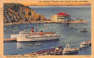 Avalon Bay, Santa Catalina Island, California, Early Postcard, Used in 1941