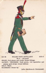 Polish Foot Artillery Sergeant Army Soldier Napoleonic War Military Postcard