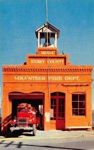 Storey County Fire Department Virginia City, Nevada Fire Truck Postcard ca 1950s