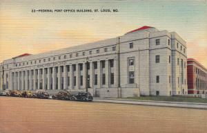 Federal Post Office Building, St. Louis, Missouri, Vintage Postcard