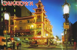 Chinatown San Francisco CA Calif Cable Car China Town Grant Ave Postcard D15