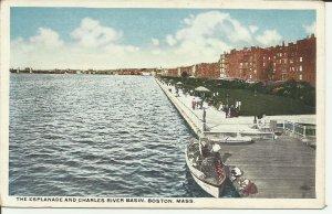 Boston, Mass., The Esplanade and  Charles River Basin