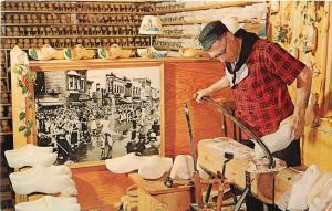 Dutch Novelty Shop Holland Michigan All Wooden Shoes Postcard