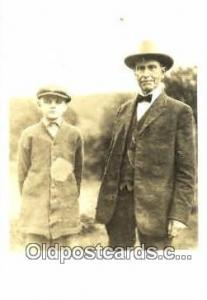 Calvin Coolidge and his father, 30th President of the United States, Politica...