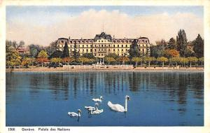 Switzerland Postcard Geneve Palais des Nations