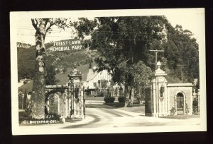 Glendale, California/CA Postcard, Forest Lawn Memorial Park, RPPC, Glossy Photo