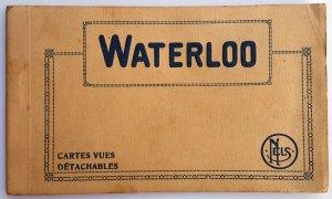 VINTAGE 10 POSTCARDS ALBUM OF WATERLOO. Printer: Nels. UNUSED!!!