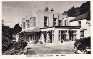 Beech Hill Hotel Exeter Real Photo Postcard