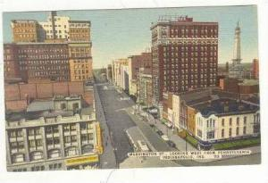 Washington St. & Aerial of City,Indianapolis,IN 1930-40s