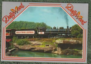 Dollywood Collectible Postcard Train Railroad Amusement Park