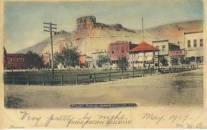 Pilot Rock Green River WY Wyoming Union Pacific Railroad c1907 Postcard E8