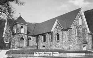 St Peter's Lutheran Church Port Jervis, New York Postcard