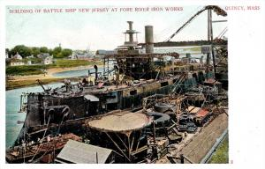 22000  Battle ship Rhode Island at  Fore River Iron Works Quincy MA