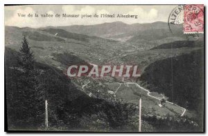 Old Postcard View of the valley of Munster making the Hotel Altenberg