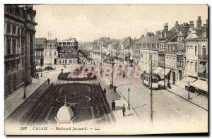 Old Postcard Calais Boulevard Jacquard Tramway