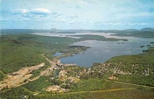 Greenville Junction Maine Aerial View Vintage Postcard J927828
