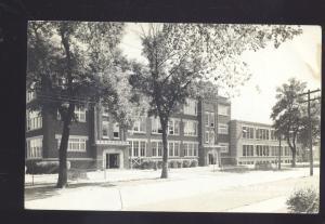 RPPC HAMPTON IOWA HIGH SCHOOL BUILDING 1944 OLD REAL PHOTO POSTCARD