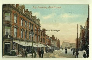 tp6716 - Narrow Street with Bank c1947, in Peterborough  - Postcard