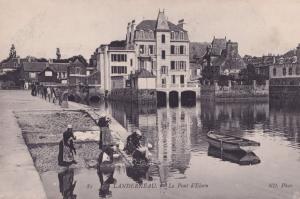 Landerneau Pont Harbour Old French Postcard