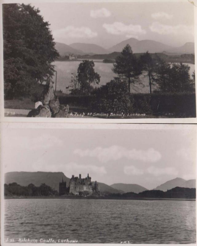 Lochinver Village 2x Arthur Dixon Scottish Postcard s