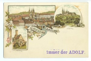 ft1574 - Gruss Aus Bamberg , Bavaria , Germany - postcard