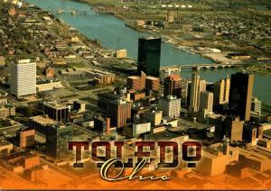 Ohio Toledo Downtown Aerial View