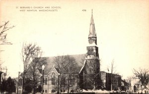 Massachusetts West Newton St Bernard's Church and School