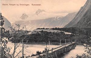 Norway Old Vintage Antique Post Card Bispen Konges og Dronningen Romsdalen Un...