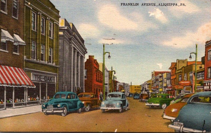 Pennsylvania Aliquippa Franklin Avenue 1950