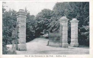 Park Entrance , Halifax , Nova Scotia , Canada , 30-40s
