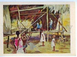 d153513 OCEANIA Papua New Guinea Village Bongu hut ethnographer