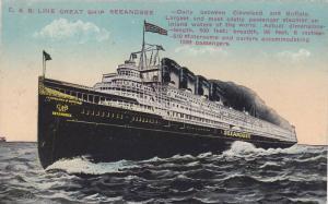 Oceanliner/Steamer/Ship, C. & B. Line Great Ship Seeandbee, 1900-1910s