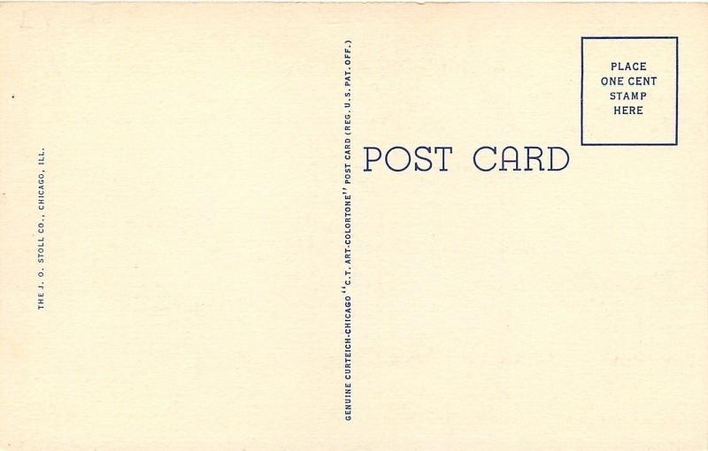 La Grange IL~First Methodist Church~Homes~1940 Linen Postcard