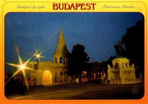 Hungary Budapest Fishermen's Bastion By Night