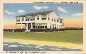 B53/ Myrtle Beach South Carolina SC Postcard Linen The Poindexter Hotel Beach