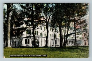 Branford CT-Connecticut, The Montowese House, Indian Neck Vintage c1916 Postcard