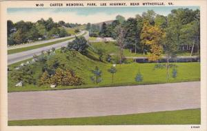Carter Memorial Park Lee Highway Wythville Virginia