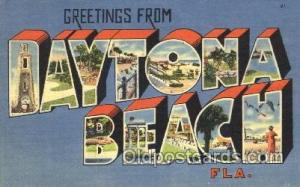 Daytona Beach, Florida, Usa Large Letter Town, Towns, Postcard Postcards  Day...