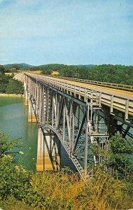 Highway 27 Bridge Burnside, KY East Fork Lake Cumberland Vintage Postcard