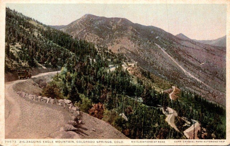 Colorado Colorado Springs Zig-Zagging Eagle Mountain Detroit Publishing