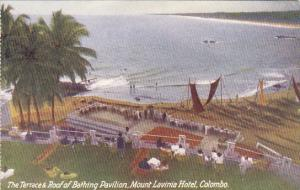 Sri Lanka Ceylon Colombo Mount Lavinia Hotel Terrace aand Roof Of Bathing Pav...