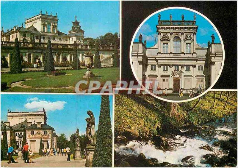 Postcard Modern Palac Warszawa Wilanowie