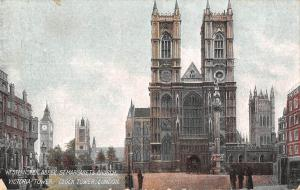 uk21585 westminster abbey st margarets church victoria and clock tower london uk