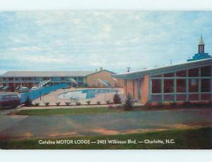 Unused Pre-1980 CATALINA MOTOR LODGE MOTEL & POOL Charlotte NC u5418