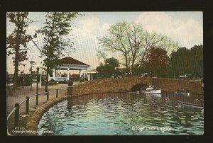 USA Postmark 1909 Willow Grove PA Bridge Over Lagoon Willow Grove Park Postcard